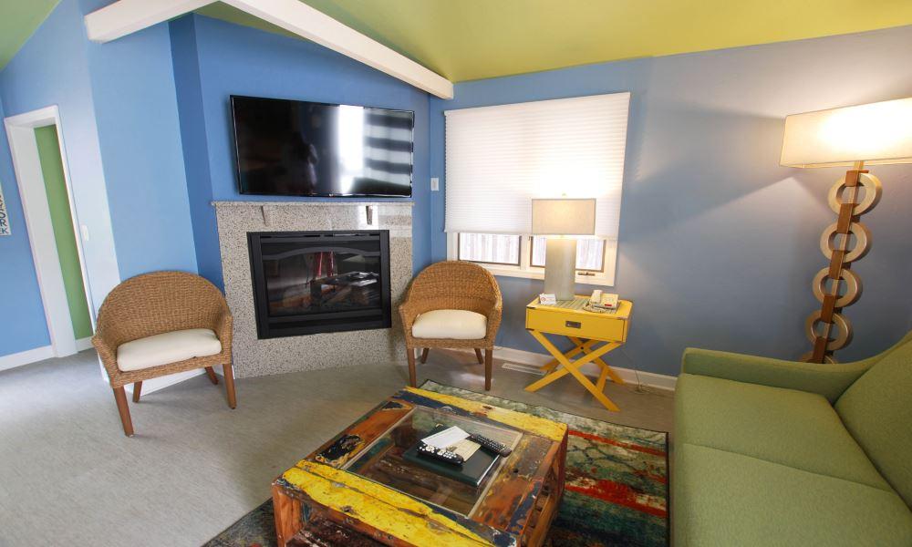 Cedar Guest House Fireplace