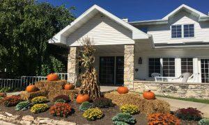 home with fall festivites design like Jack O' Lanterns