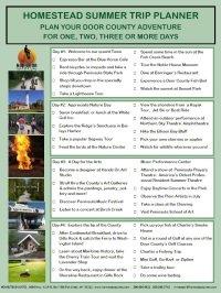 Download Your FREE Door County Summer Vacation Trip Planner!