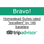 Homestead Suites Rated Excellent by Travelers